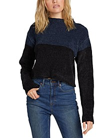 Juniors' Cropped Colorblocked Sweater