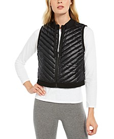 Cropped Quilted Vest