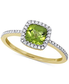 Peridot (1 ct. t.w.) & Diamond (1/5 ct. t.w.) Ring in 14k Gold