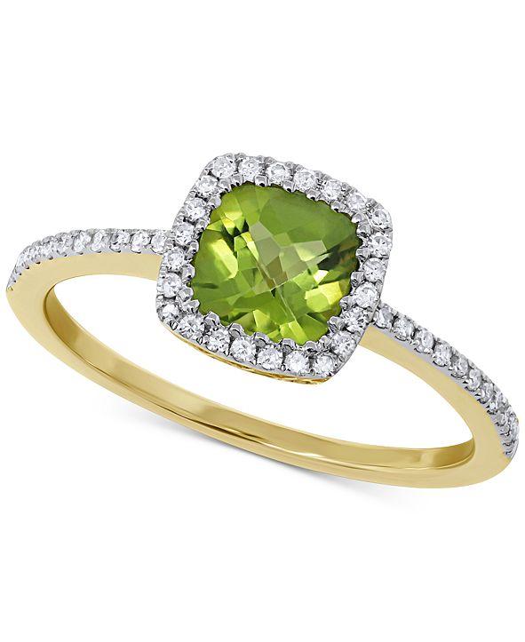 Macy's Peridot (1 ct. t.w.) & Diamond (1/5 ct. t.w.) Ring in 14k Gold