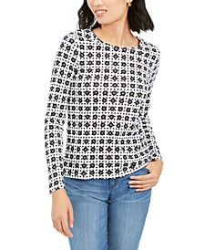 Printed Pima Cotton Top, Created for Macy's