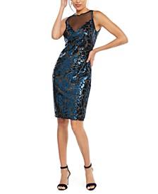 Sequined Illusion Dress