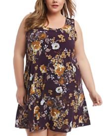 Karen Kane Plus Size Chloe Floral-Print Dress