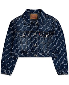 Big Girls Cotton High-Rise Denim Jacket
