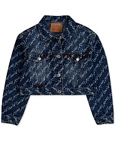 Levi's® Big Girls Cotton Cropped Denim Jacket