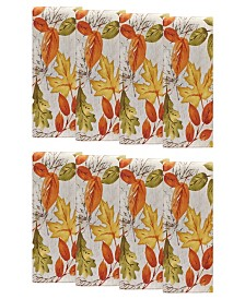 Elrene Autumn Leaves Fall Printed Napkins, Set of 8