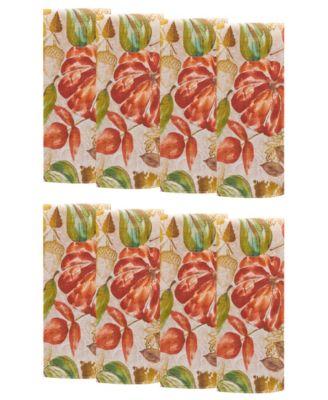 Gourd Gathering Fall Printed Napkins, Set of 8