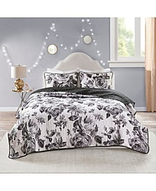 Dorsey Full/Queen 3-Pc. Reversible Printed Coverlet Set