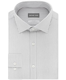 Men's Slim-Fit Non-Iron Performance Knit Stripe Dress Shirt
