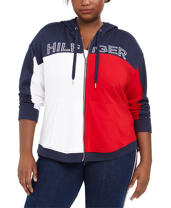 Tommy Hilfiger Plus Size Colorblocked Hoodie