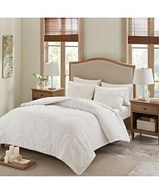 Madison Park Bahari Tufted Chenille Palm 3-Pc. Comforter Sets