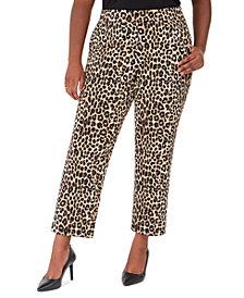 Michael Michael Kors Plus Size Animal-Print Wide-Leg Pants
