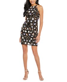 Adrianna Papell Petal-Bead Sheath Dress