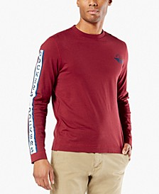 Men's Alpha Logo Graphic Long Sleeve T-Shirt