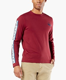 Dockers® Men's Alpha Logo Graphic Long Sleeve T-Shirt