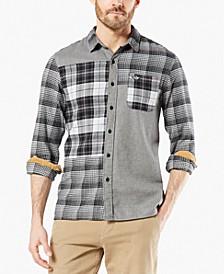 Men's Alpha Modern-Fit All Seasons Tech™ Mixed Flannel Shirt