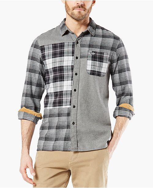 Dockers Men's Alpha Modern-Fit All Seasons Tech™ Mixed Flannel Shirt