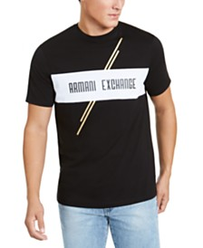 A|X Armani Exchange Men's Metallic Foil Logo T-Shirt, Created for Macy's