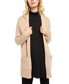Eileen Fisher Open-Front Shawl Cardigan