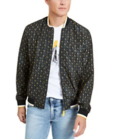 A|X Armani Exchange Men's Logo Print Baseball Jacket, Created for Macy's