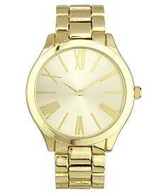 I.N.C. Women's Gold-Tone Bracelet Watch 42mm, Created for Macy's