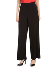 Anne Klein Stretch Wide-Leg Trouser Pants