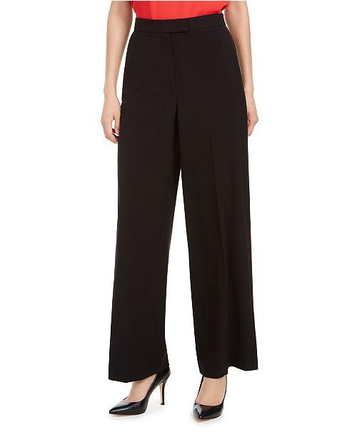 Anne Klein Stretch Wide-Leg Trouser Pants