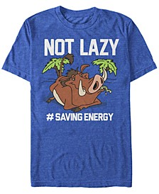 Disney Men's Pumbaa Not Lazy Short Sleeve T-Shirt