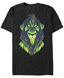 Disney Men's The Lion King Scar Portrait Short Sleeve T-Shirt