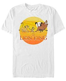 Disney Men's Lion King Sunset Geometric Pride Short Sleeve T-Shirt