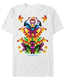 Disney Men's The Lion King Neon Animal Tower Short Sleeve T-Shirt