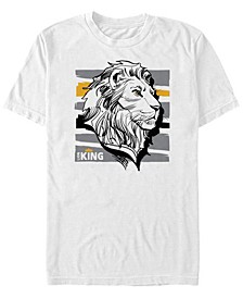 Disney Men's The Live Action Mufasa Sketched Portrait Short Sleeve T-Shirt