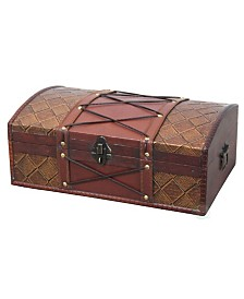 Vintiquewise Pirate Treasure Chest with Leather X