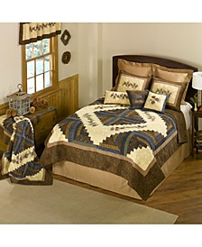 Cabin Raising Pine Cone Cotton Quilt Collection