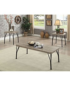 Industrial Style Wooden Top Table Set