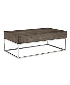 Coffee Table with Metal Geometric Open Base