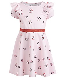 Disney Little Girls Ruffled Minnie Mouse Dress