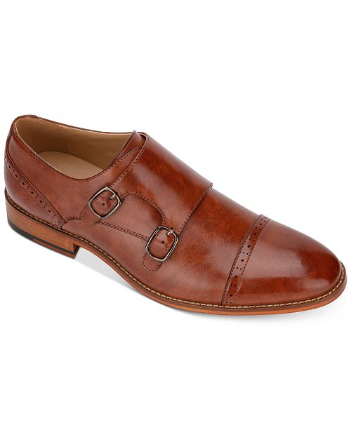 Unlisted Kenneth Cole Men's Cheer Quarter-Brogue Monk Strap Loafers