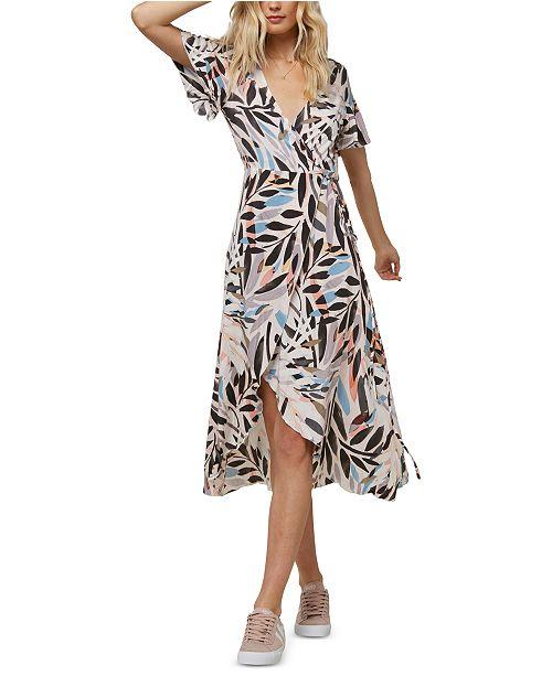 O'Neill Juniors' Carina Printed Wrap Maxi Dress