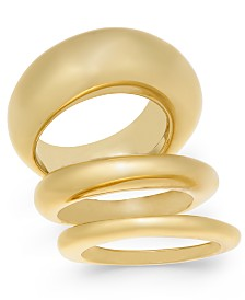 Alfani Gold-Tone 3-Pc. Set Stackable Rings, Created For Macy's