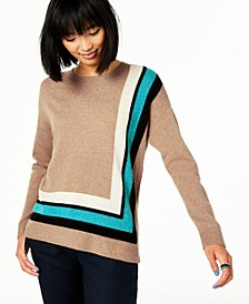Border-Trim Cashmere Sweater, Created For Macy's
