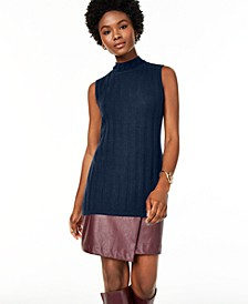 Sleeveless Mock-Neck Pure Cashmere Sweater, Regular & Petite Sizes, Created for Macy's