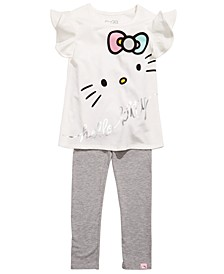 Little Girls 2-Pc. Printed Top & Leggings Set