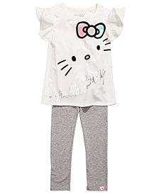 Hello Kitty Little Girls 2-Pc. Printed Top & Leggings Set