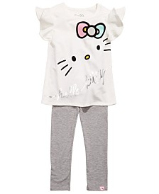 Hello Kitty Little Girls 2-Pc. Printed Top & Leggings Set