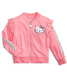 Little Girls Ruffled Track Jacket