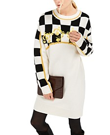 Checkered Sweater Dress