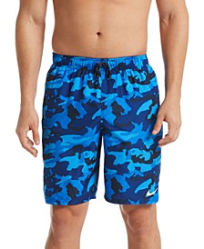 "Men's Camouflage 9"" Swim Trunks"