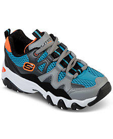 Skechers Big Boys' D'Lites 2 - Tidal Wave Athletic Sneakers from Finish Line