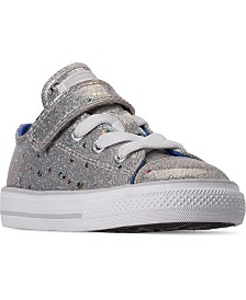Converse Toddler Girls' Chuck Taylor All Star Galaxy Glimmer Stay-Put Closure Casual Sneakers from Finish Line